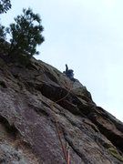 Rock Climbing Photo: Just past the crux. Photo: Mark Roth.