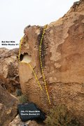 Rock Climbing Photo: The Uncracked Wall West Topo