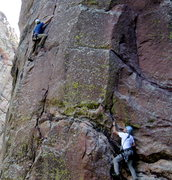 Rock Climbing Photo: George Lowe on the Northwest Buttress and Stan Lan...
