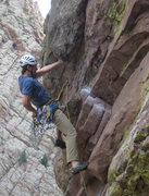 Rock Climbing Photo: Stan Lanzano on the undercling section.