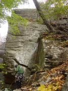 Rock Climbing Photo: WDT starts in the corner to the right of the climb...