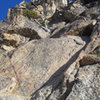 The start of  the S Arete route,