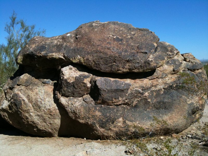 Don't have a name for this rock its about 8 feet tall.