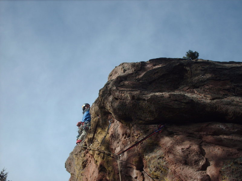 """Rock Climbing Photo: Starting up 'Outside East face""""."""
