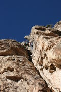 Rock Climbing Photo: Ross, leading SLIM.