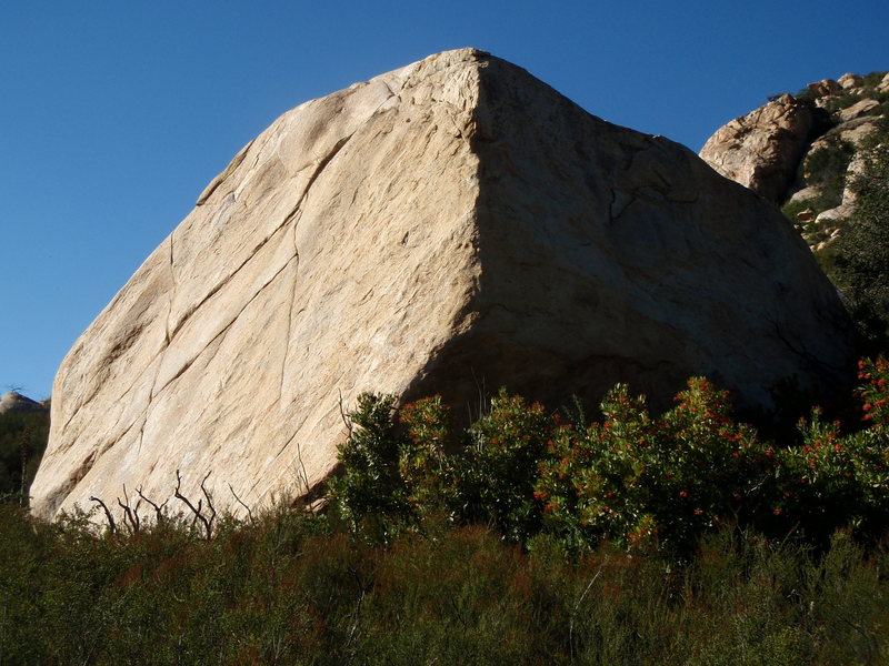 Rock Climbing Photo: Dos Equis Rock.  Don't let this slab fool you...  ...