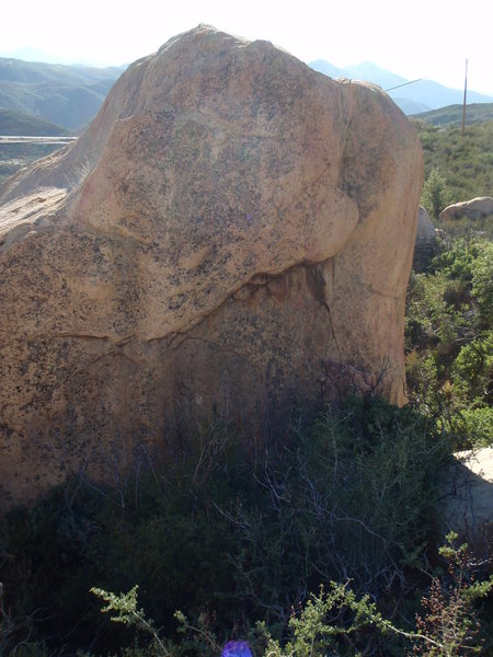 Small Bar on Library Rock<br> (strait up the face, past undercling, to highest point on rock)