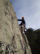 Rock Climbing Photo: Dave on P2.