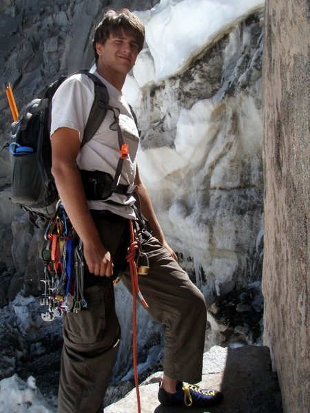 Geared up at the base of Starlight Buttress.