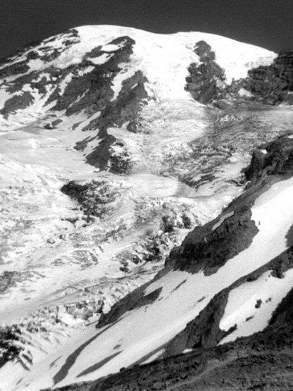 Nisqually Glacier 1975.<br> Photo by Blitzo.