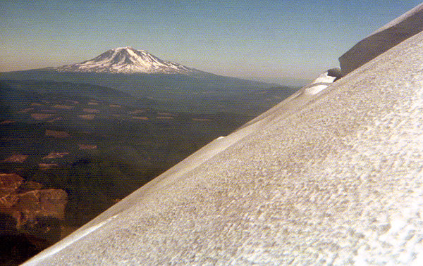 Mt Adams from Mt. St. Helens. 1974.<br> Photo by Blitzo.