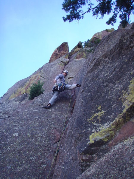 Rock Climbing Photo: Me on P1 of the Direct Start of Star Wars.