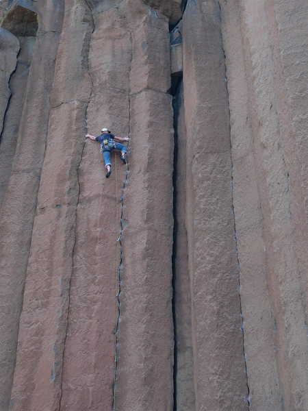 Cody at the crux.