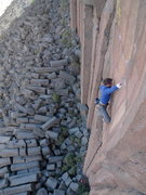 Rock Climbing Photo: Guy P. on the nice face of Dame el Oro.