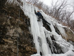 Rock Climbing Photo: The ice is thin but it is in for the '10-'11 Seaso...
