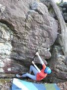 "Rock Climbing Photo: Sheila Rahim on the start of ""The Flaming Car..."