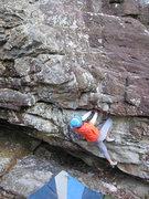 Rock Climbing Photo: Sheila Rahim making use of the massive incut jug o...