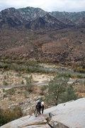Rock Climbing Photo: Romain Wacziarg enjoys the stellar climbing on Ker...
