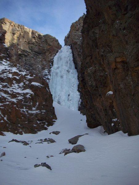 Rock Climbing Photo: Pitch three-right side.