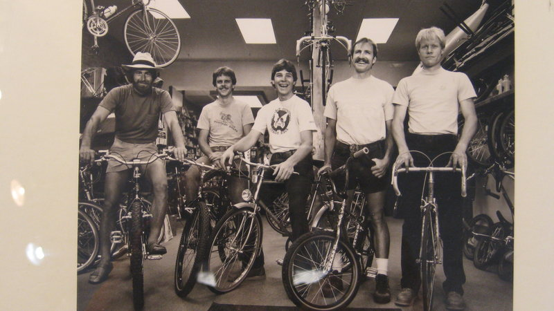 The Tune Up crew.<br> Photo courtesy of Dave Meyer, <br> Rock & Roll Sports Gunnison.