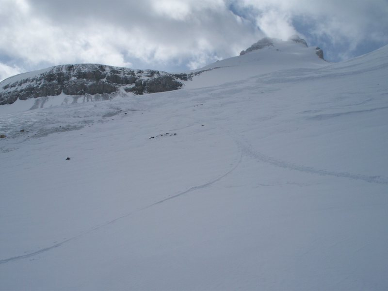 Mount Hector from the toe of the glacier.