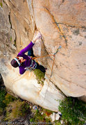 Rock Climbing Photo: Keli Balo on Double Dragon Arete (5.10a), Ramona W...
