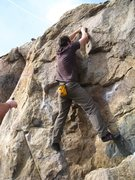 "Rock Climbing Photo: Will takes advantage of the ""thunder egg&quot..."
