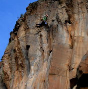 Rock Climbing Photo: Josh Cross narrowing his focus, and about to send!