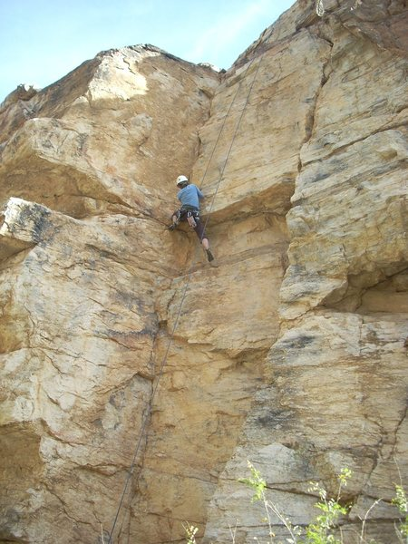 Rock Climbing Photo: Mary Messal on Sheila Tester.  I guess she passed.