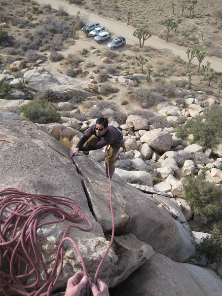 Rock Climbing Photo: Scott on the finishing rail - sweet.