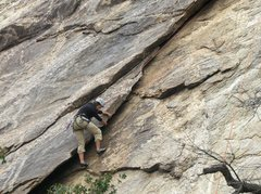 Rock Climbing Photo: Sheryl Miller on Layback at the Fruitstand, Sabino...
