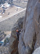Rock Climbing Photo: View of second pitch from the top of the second pi...
