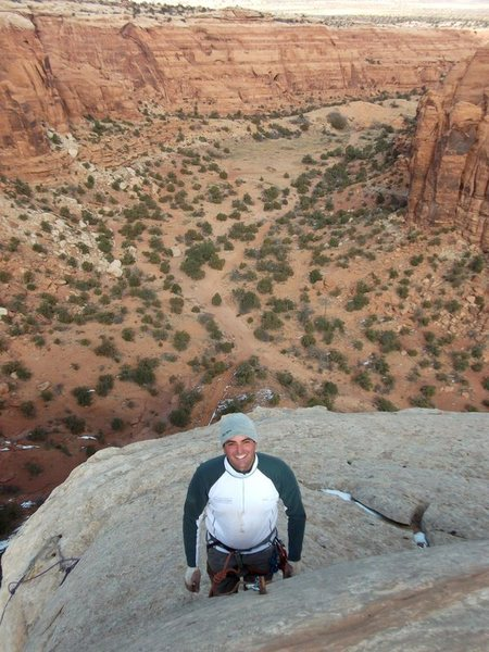Rock Climbing Photo: Geoff on the sub-summit.