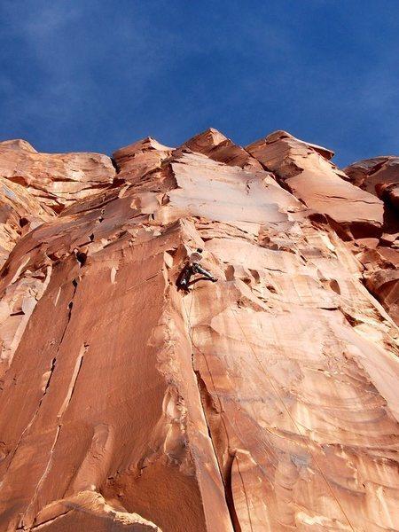 Rock Climbing Photo: Collin on the fun top section.
