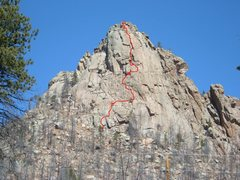 Rock Climbing Photo: Our variation Route to Lost in Space.