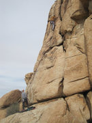 Rock Climbing Photo: Somewhere around the crux.
