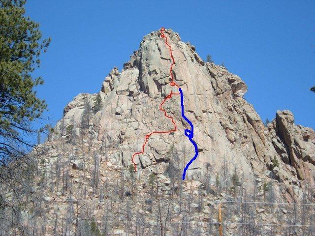 Rock Climbing Photo: My interpretation of Lost in Space.
