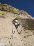 Rock Climbing Photo: Dave (Zion) Jones. Starting second pitch/