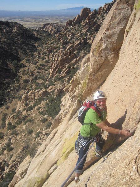 Rock Climbing Photo: An older chap than Dave.....Paul Ross on P3. Photo...