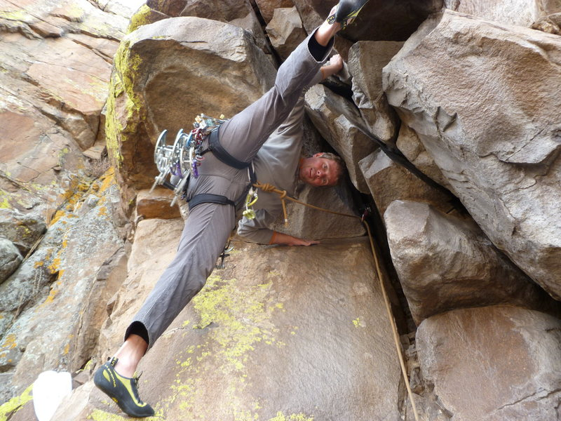 Rock Climbing Photo: Getting into the crack may be the crux, but not if...