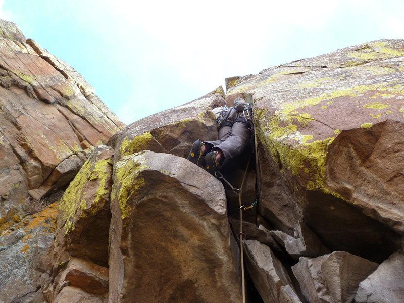 Rock Climbing Photo: Stuffed into the crack.