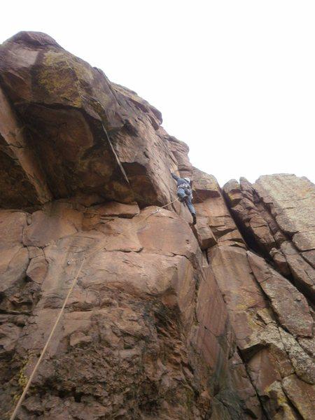Rock Climbing Photo: Crimping.