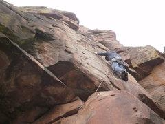 Rock Climbing Photo: You can see the anchor.