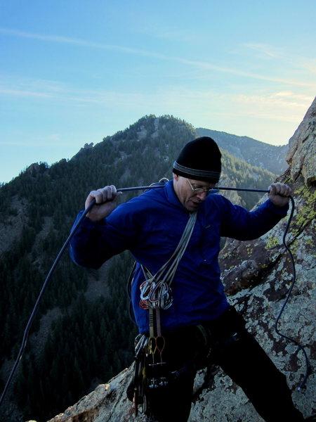 Bob R atop the Naked Edge