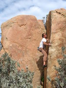 Rock Climbing Photo: V2 at Simpson Park, Hemet