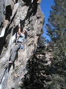 Rock Climbing Photo: Jamie going to battle....