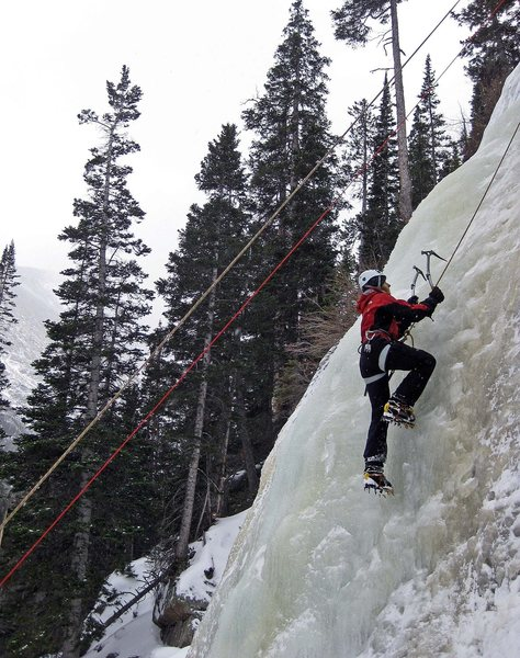 Rock Climbing Photo: Jewel Lake ice in the snow.  Gorgeous, mellow day ...