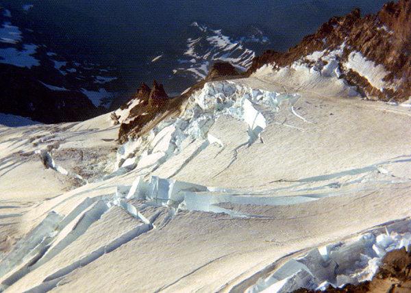 Rock Climbing Photo: Ingraham Glacier, 1975. Photo by Blitzo.
