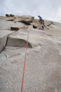 Rock Climbing Photo: Matthew Fienup belays from the bolted anchor that ...
