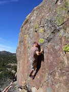 Rock Climbing Photo: best boulder problem at Three Peaks